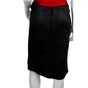 III State Dark Brown Leather Below Knee Length Skirt Size 6 SKU 000074