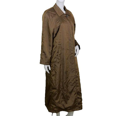 Jones New York Brown Below Knee Length Leather Trench Style Coat   (SKU 000074)