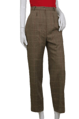 Talbots Beige Check Stripe Wool Dress Pants Size 12 (SKU 000120)
