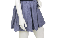 SKIRT Blue Jean Denim Skirt Gathered with Elastic Waist (SKU 000