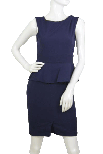 AA Studio Dark Blue Dress Size 6 (SKU 000174)