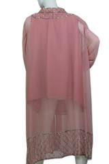 French Collizioni Pink 2 Piece Jacket and Shell with Silver Beading Size C-4 (SKU 000173)