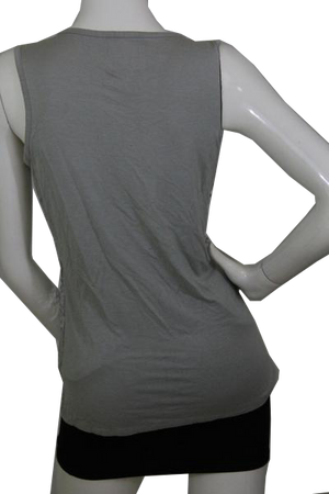 EVEN Design History Top Grey and Silver Sequin Tank  Size L SKU 000173