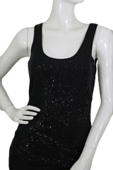 Black Sequin Tank Top Size S (SKU 000173)