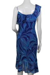 Designers on a Dime Multi Colored Blue Sun Dress (SKU 000167)
