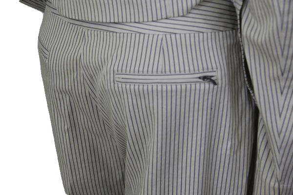 Chicos Tan and Navy Pin Stripped Pants Size 2 SKU 000150
