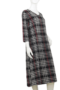 Plaid Knit Dress Knee length XXXL SKU 000171