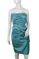 Nicole Miller Teal Strapless Cocktail Party Dress  Size 2 (SKU 000172)