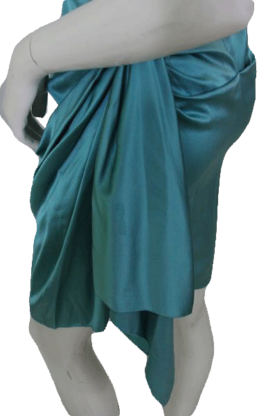 Nicole Miller Teal Strapless Cocktail Party Dress  Size 2 SKU 000172