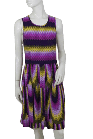 Maggy London Multicolor Dress with Key Hole Back Size 8 SKU 000172
