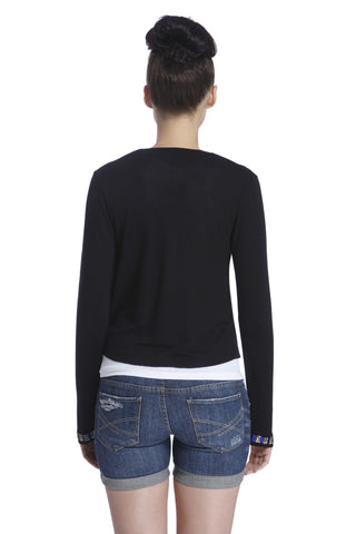 Kiana Short Navy Cardigan