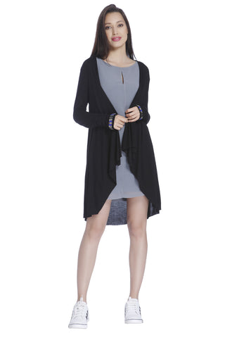 Eva Long Navy Cardigan