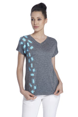 Freya Grey Embellished Tee