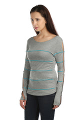 Aria Full Sleeves Turquoise Bead Top - ETHER  - 6