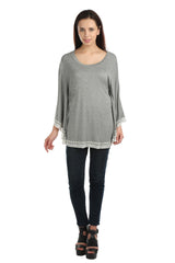 Eleanor Grey Poncho Tee - ETHER  - 5