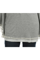 Eleanor Grey Poncho Tee - ETHER  - 3