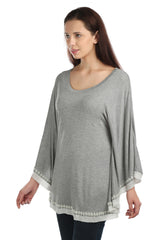 Eleanor Grey Poncho Tee - ETHER  - 2