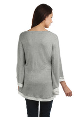 Eleanor Grey Poncho Tee - ETHER  - 4