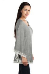 Eleanor Grey Poncho Tee - ETHER  - 6