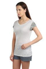Ella Sleeve Embellished T-shirt - ETHER  - 5