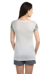 Ella Sleeve Embellished T-shirt - ETHER  - 3