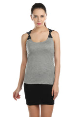 Alex Shoulder Bow Grey Top - ETHER  - 1