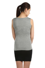 Alex Shoulder Bow Grey Top - ETHER  - 4