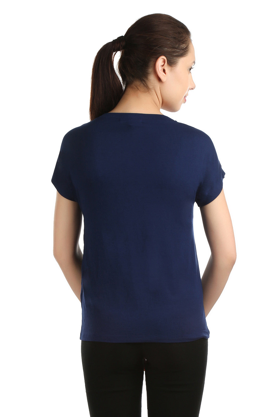 Lancet Blue Square Cut Tee - ETHER  - 4