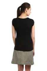 Iris Black Embellished Tee - ETHER  - 4