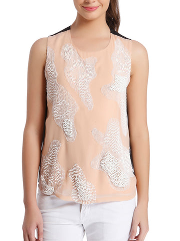 Coral Animal-Spot Top