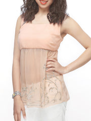 Winter-Blush Yoke Flare Top - ETHER  - 1