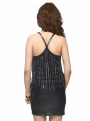 Cosmos Racer-Back Cami Top - ETHER  - 5