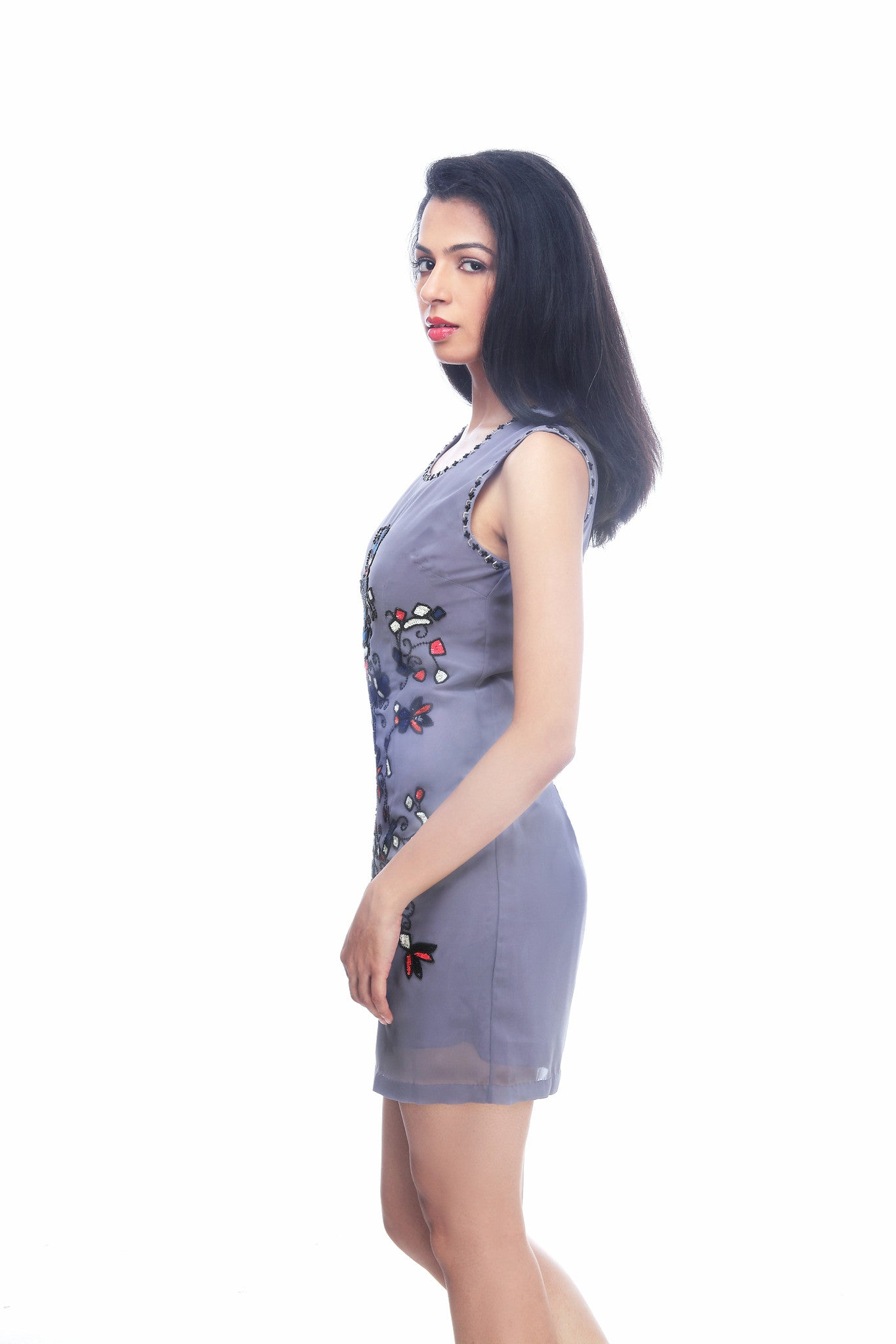 Bellona Shift Dress - ETHER  - 3