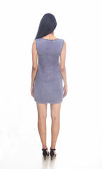Bellona Shift Dress - ETHER  - 4