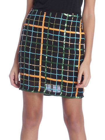 Manhattan Skirt - ETHER  - 1