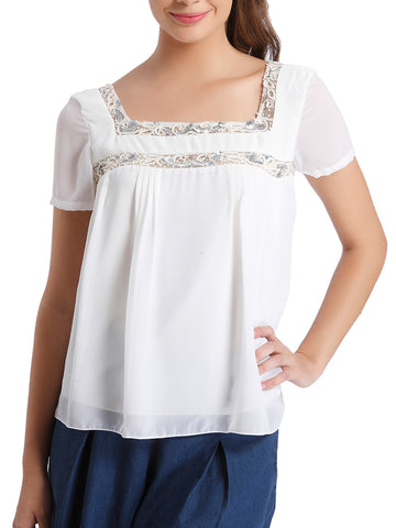 Neva Pintuck Peasant Top