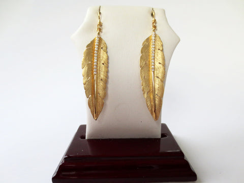 Marika Desert Gold - Leaf Earrings