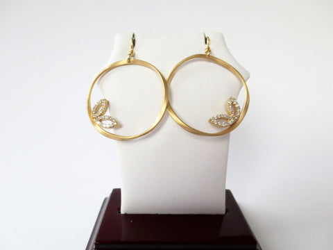 Marika Desert Gold - Feather Hoops