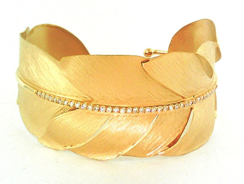 Marika Desert Gold - Feather Cuff Bangle