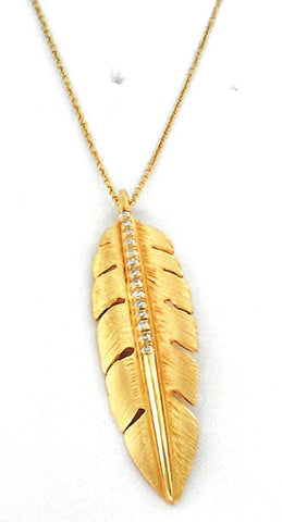 Marika Desert Gold - Feather Pendant