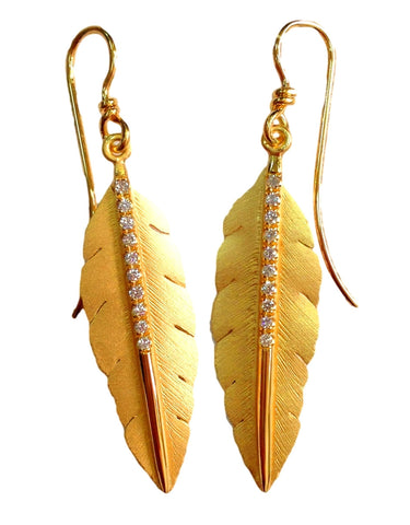 Marika Desert Gold - Feather Earrings