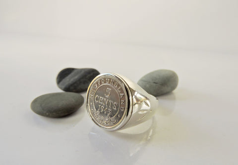5 Cent NL Coin Ring- Sterling