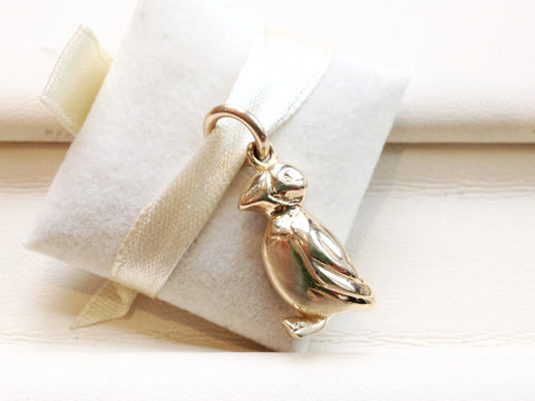 Gold Puffin Charm