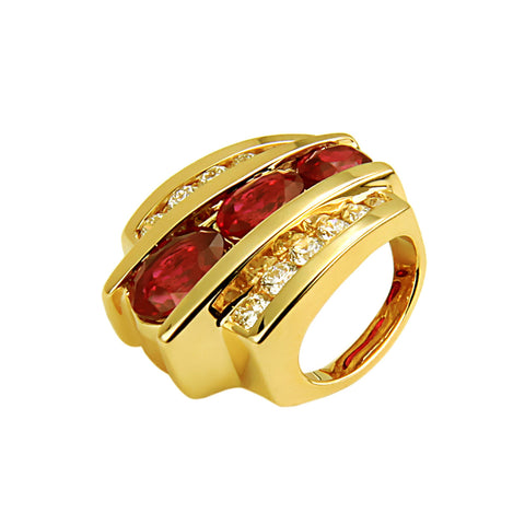 De Hago - Yellow Gold, Ruby & Diamond Slider
