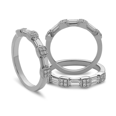 De Hago - White Gold Diamonds & Baguette Band