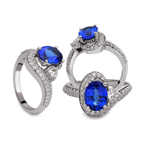De Hago - White Gold, Diamond & Tanzanite