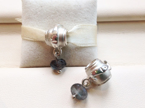 Rolling Capelin Charm with Labradorite