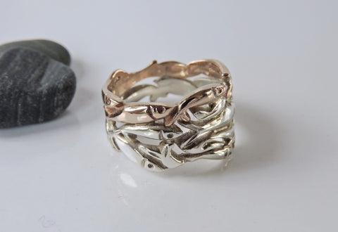Rolling Capelin Ring- Two Tone