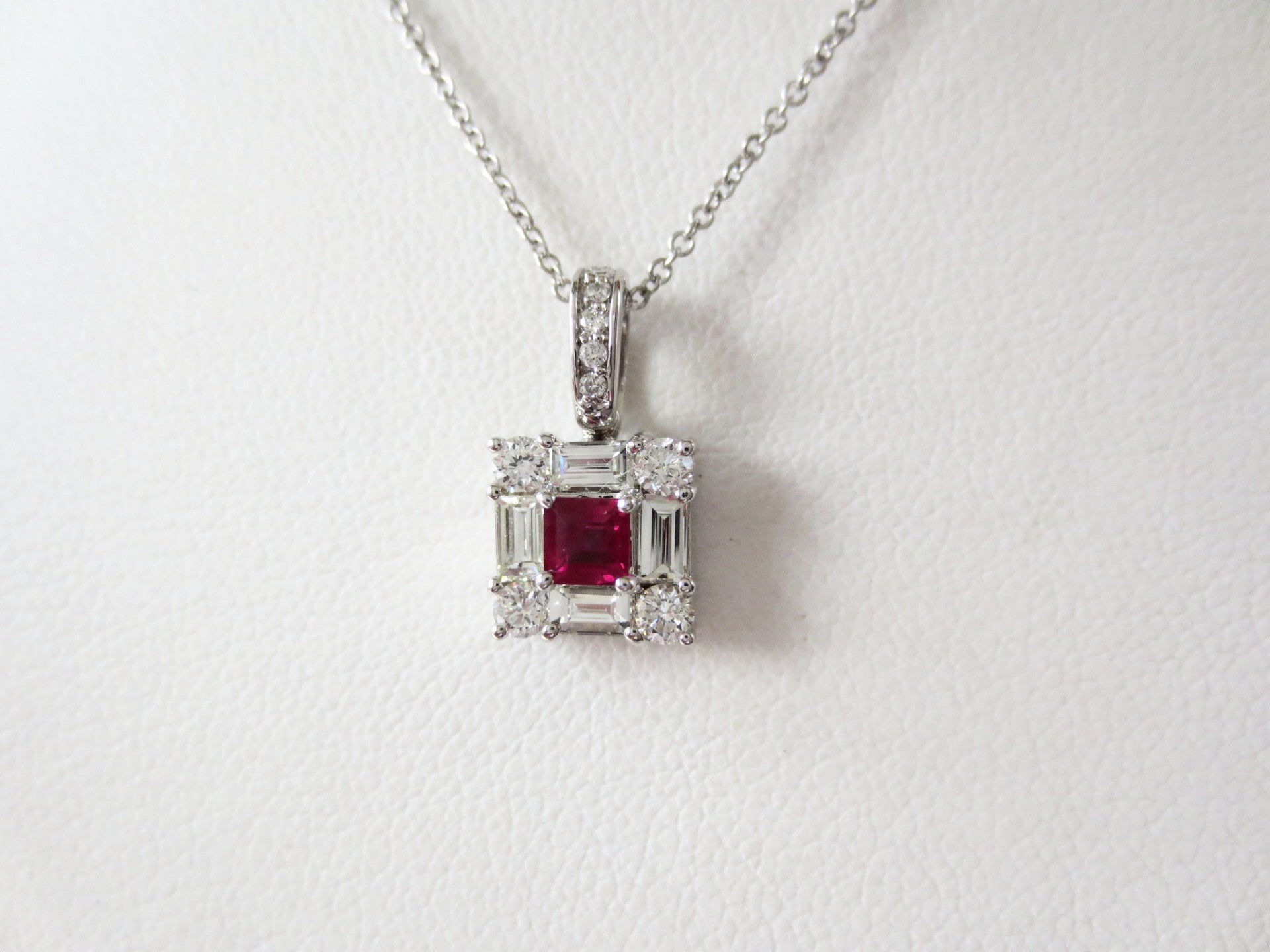 sterling set tw necklace pin couer de square silver and diamond earring pendant matching