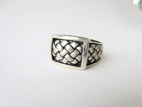 Scott Kay Braided Square Ring